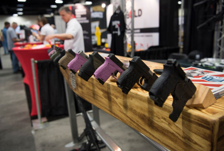 Handgun products display at USCCA Expo Exhibit